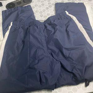 Nike Large Sweatpants Navy White Zip Up Bottom